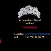 Miss and Mrs Itanagar Arunachal India World Queen and Mr India