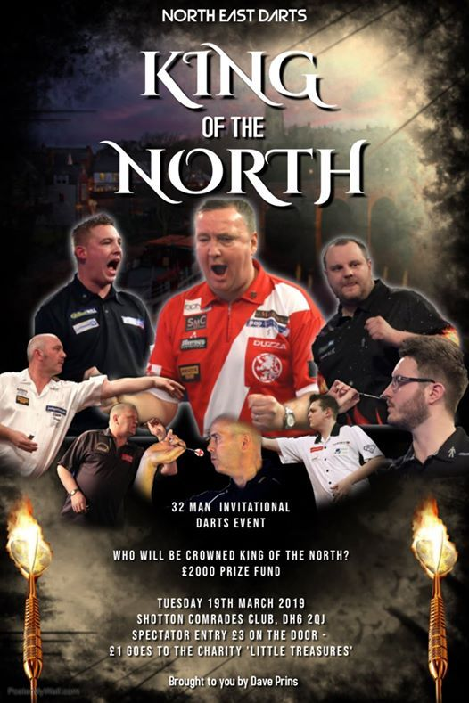 King of the North - Tues 19th March - Shotton Comrades SOLD OUT