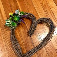 Succulent Heart Wreath Workshop