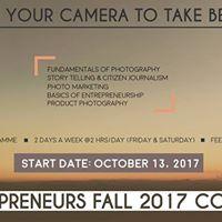 Photopreneurs Fall 2017 Cohort