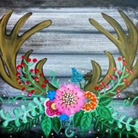 Rustic Antlers &amp Floral Bouquet