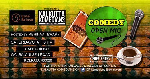 Caf Brioso presents Kalkutta Komedians Open Mic