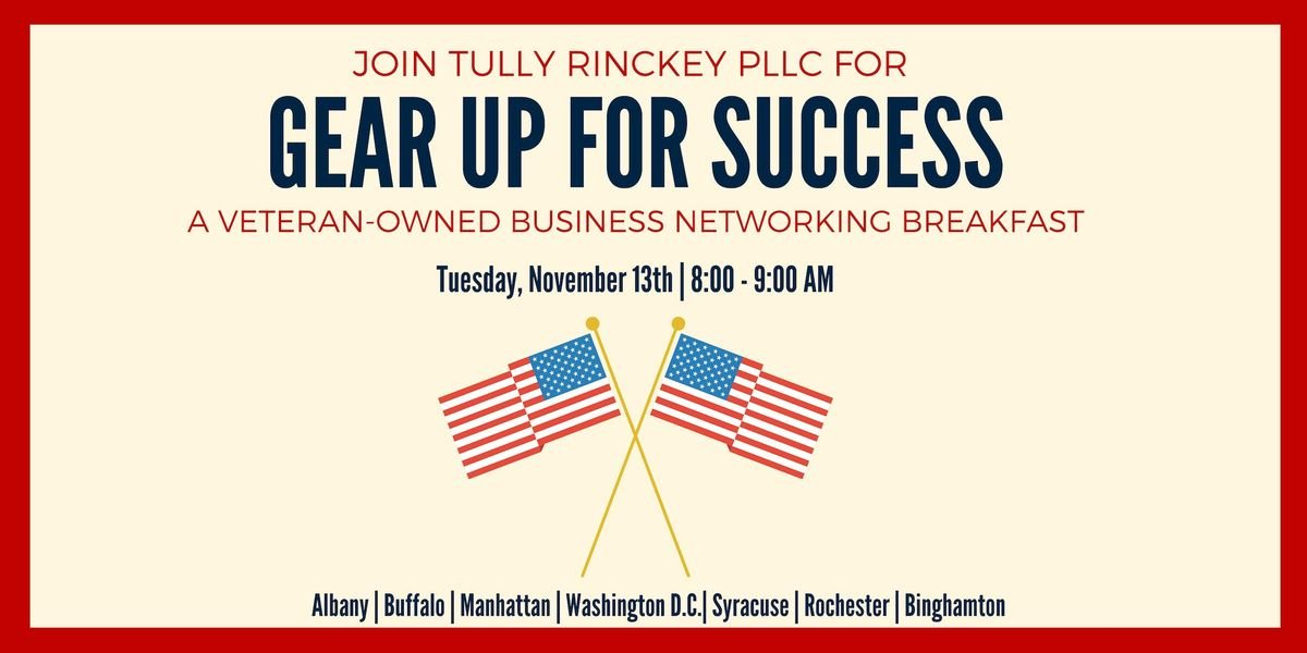 Gear Up for Success - A Veteran-Owned Business Networking Breakfast