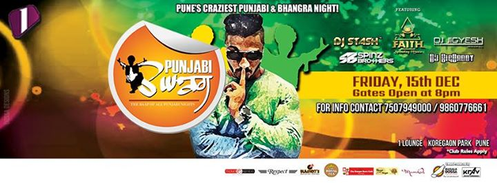 Punjabi Swag 1 Lounge Friday 15th Dec 8pm onwards