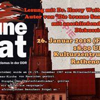 Rassismus in der DDR - Lesung und Diskussion im Kulturzentrum RN