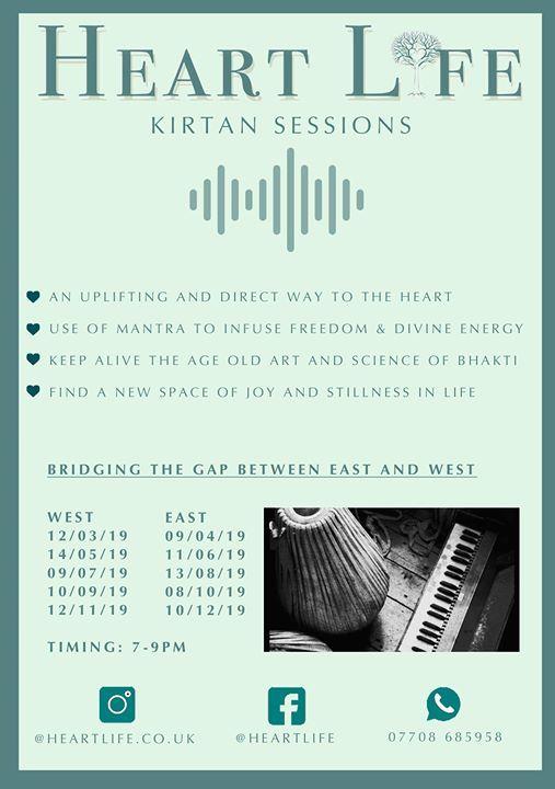Heartlife Kirtan - East London 7to9pm Mark Bouzida & Emma Goldie