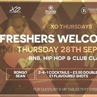 XO Thursdays  Freshers welcome party - Thursday 28th September