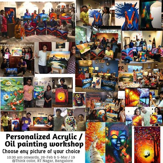 Personalised acrylic oil painting workshop