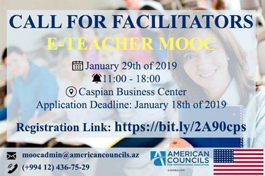 Call for Facilitators - E-Teachers MOOC