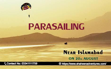 Parasailing near Islamabad