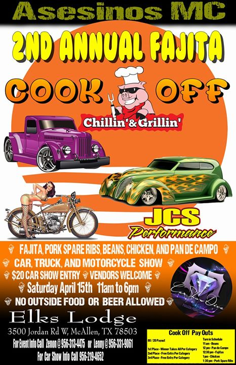 Asesinos MC Fajita Cook Off And Car Show At McAllen Elks Lodge - Mcallen car show