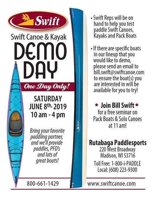 Swift Demo Day at Rutabaga Paddlesports, Madison