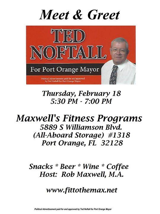 Meet greet ted noftall for port orange mayor at maxwells meet greet ted noftall for port orange mayor at maxwells fitness programs port orange m4hsunfo