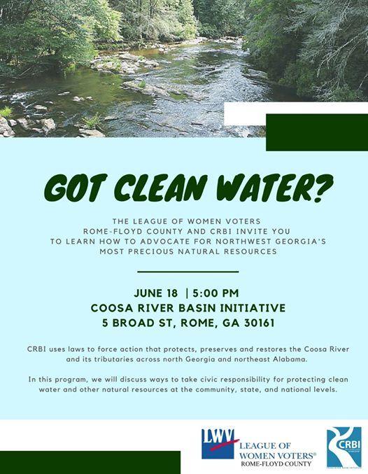 Got Clean Water? at Coosa River Basin Initiative, Rome