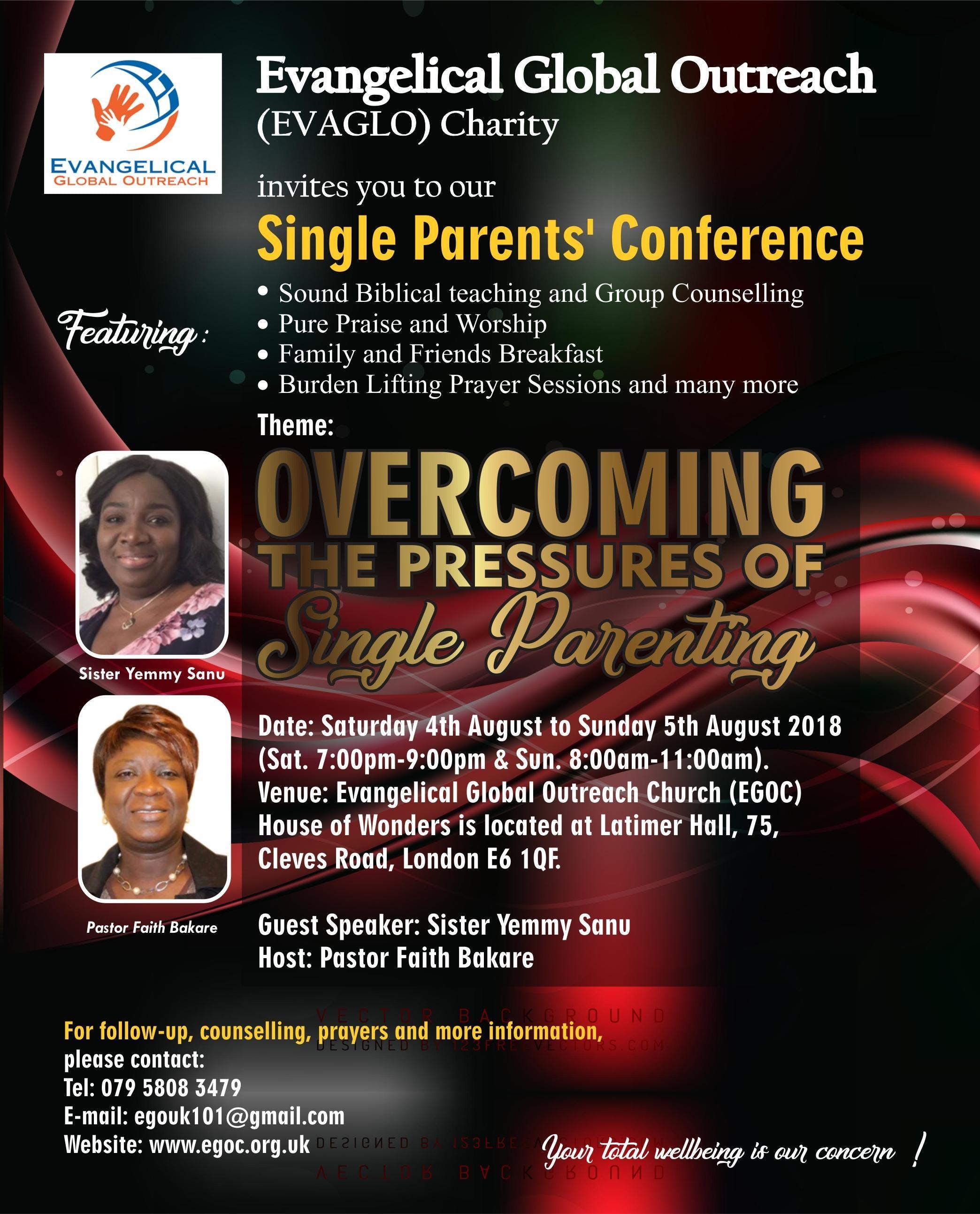 Single Parents Conference at East Ham, London