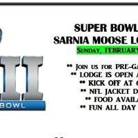 Super Bowl LII at the Sarnia Moose Lodge