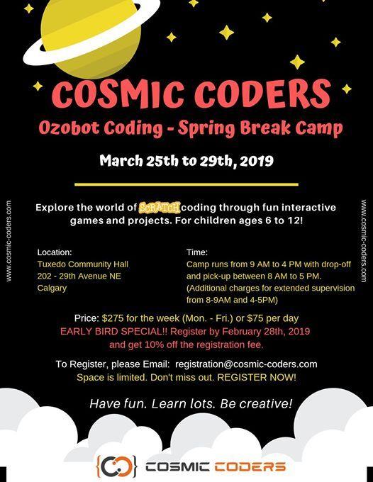 Cosmic Coders Spring Break Camp