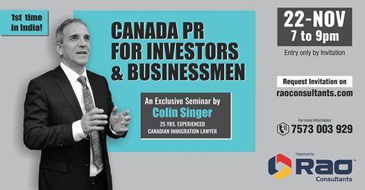 Canada PR Seminar for Investors & Businessmen