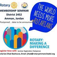District 2452 Membership Seminar