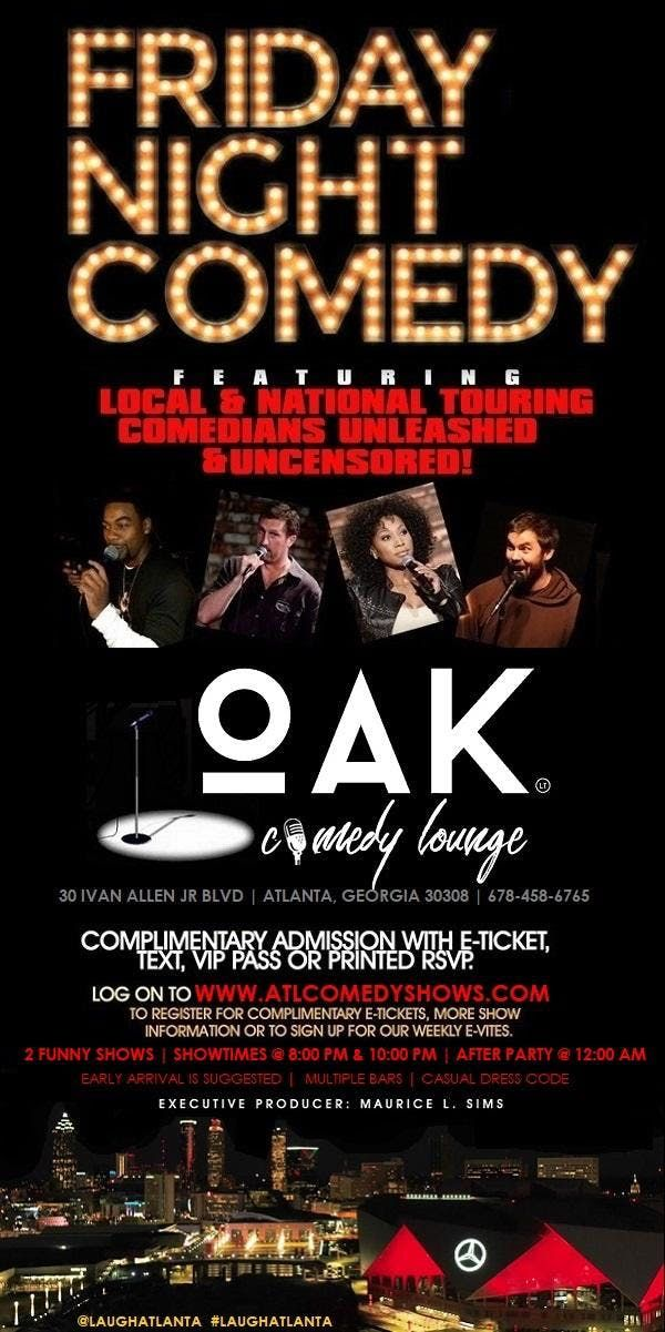 Friday Comedy at Oak Comedy Lounge