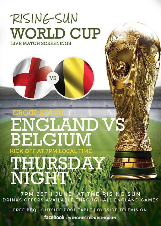 World Cup Live - England Vs Belgium at The Rising Sun ...