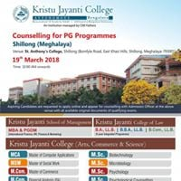 Admission Counselling in Shillong 19 March 2018