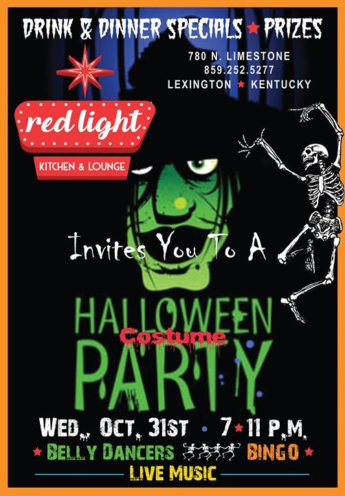 Red Light Invites You To A Halloween Party At Red Light Kitchen