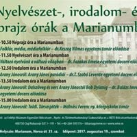 Nyelvszet- irodalom- s nprajz rk a Marianumban