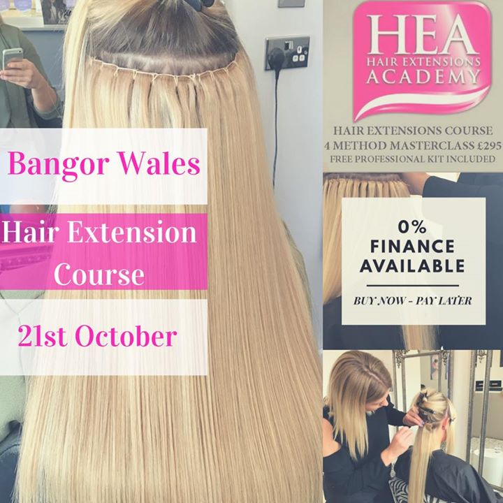 Bangor Wales Hair Extension Course Book Now Pay Later Finance