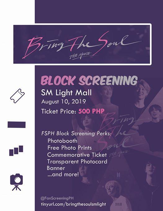 Bts Bring The Soul Block Screening At Sm Ligh Ma At Smdc Light Mall