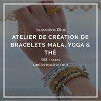 Cration de bracelets Malas Yoga et th