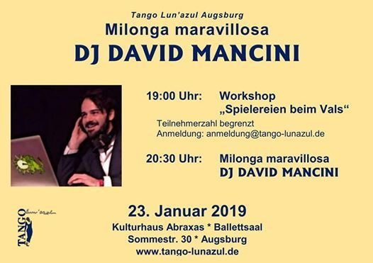 Workshop und Milonga mit David Mancini in Augsburg