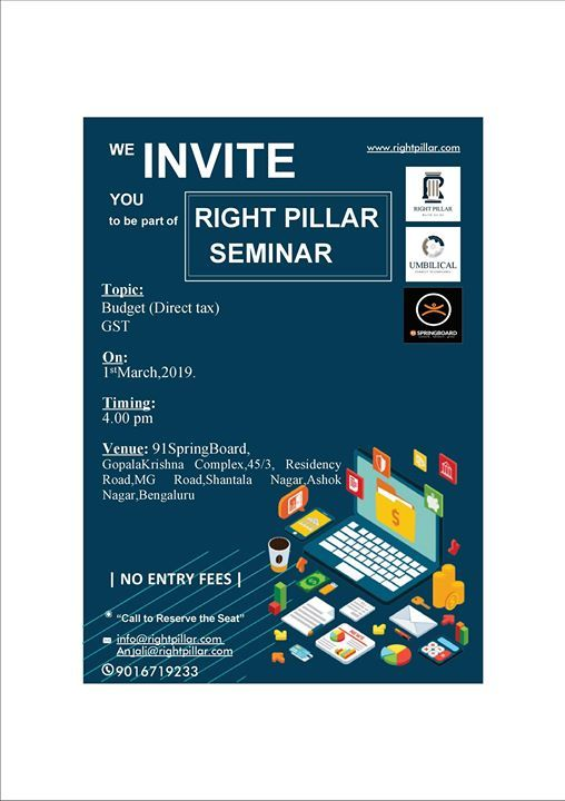 Right Pillar Seminar - A talk on Tax Returns