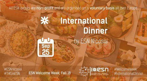 International Dinner [ESN Welcome Week Fall 18]