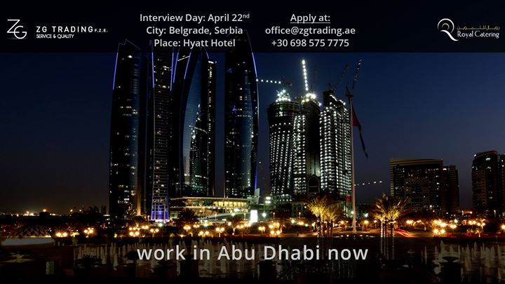 Job Interviews - Royal Catering - Abu Dhabi