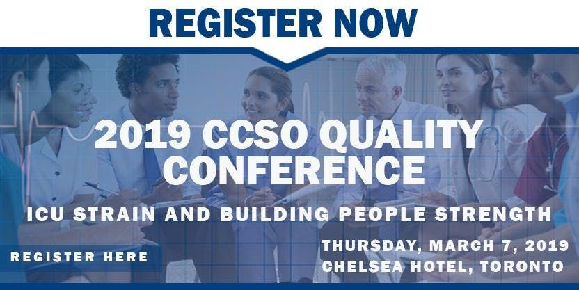 2019 CCSO Annual Quality Conference