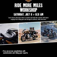 Ride More Miles Workshop