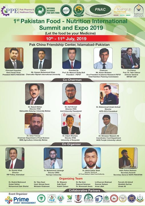Pakistan Food-Nutrition Summit & Healthcare Expo 2019
