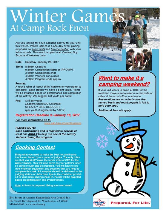 Winter Games at Camp Rock Enon