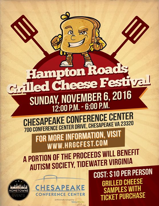 Hampton roads grilled cheese festival at chesapeake for Craft shows in hampton roads