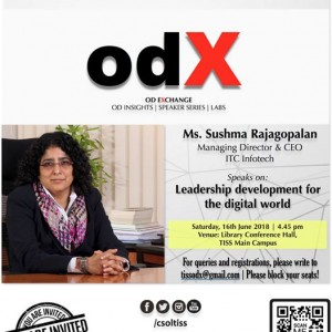 OdX on Saturday 16th June 2018 Sushma Rajagopalan