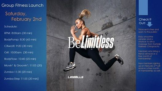 Group Fitness Saturday Launch
