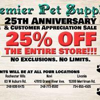 25th Anniversary Sale &amp Customer Appreciation Event