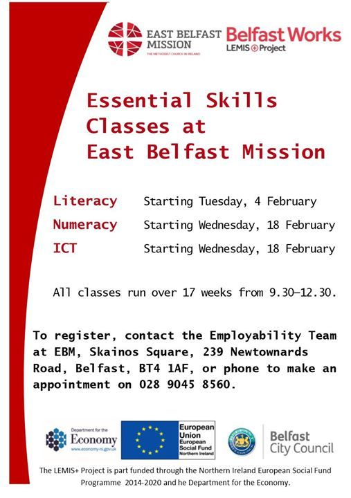 Essential Skills Classes- Literacy