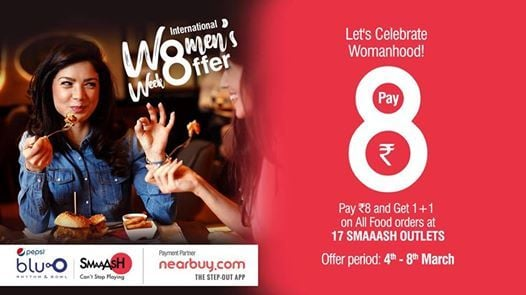 International Womens Week Special Offer At Smaaash Bluo