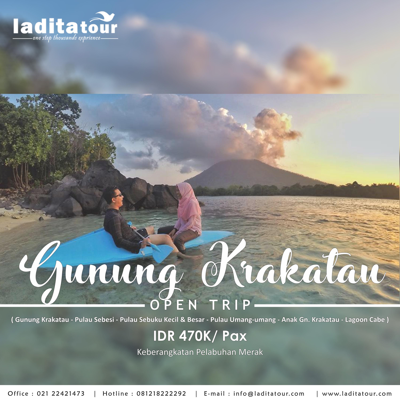 OPEN TRIP Gunung Krakatau 24 - 26 Agustus 2018 - Ladita Tour Jakarta