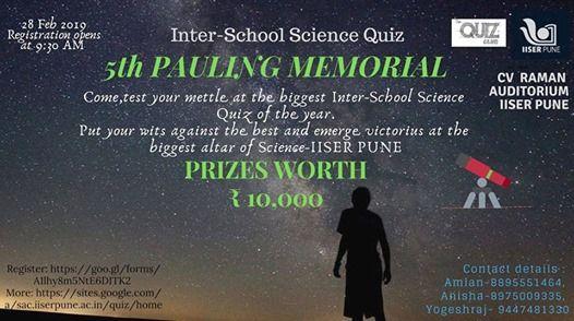 5th Pauling Memorial Inter-school Science Quiz