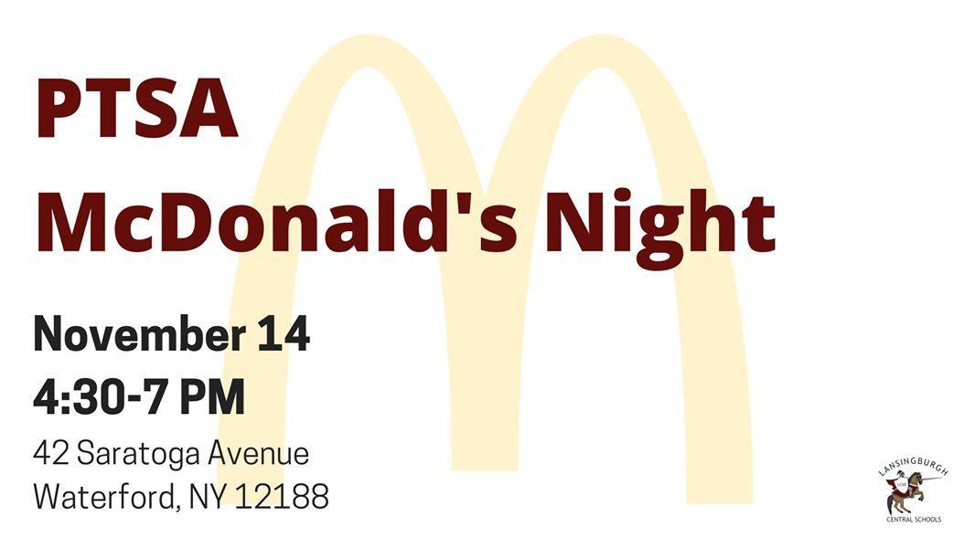 PTSA McDonalds Night