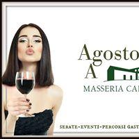 Agosto a Masseria info e curiosit dei primi 15 gg