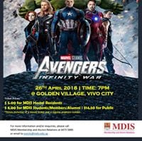 MDIS Movie Night - Marvels Avengers Infinity War